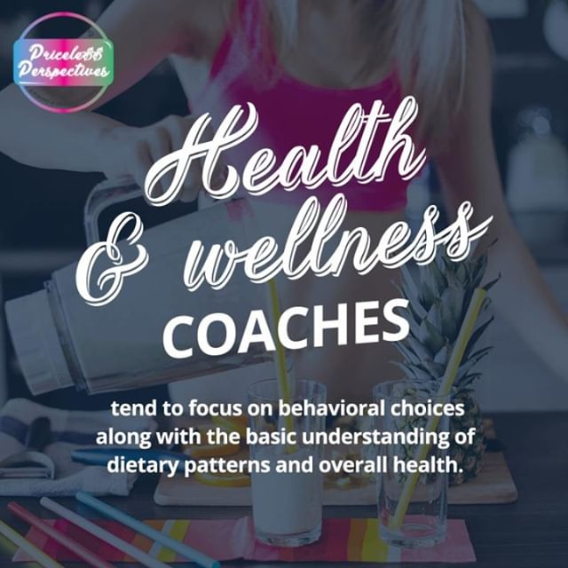 Health & Wellness COACHES tend to focus on behavioral choices along with the basic understanding of dietary patterns and overall health.⠀ ———————⠀ 💜😍Share With Your Friends 😍💜⠀ ———————⠀ #PricelessPerspectives #GoodKarmaInEffect #CatchTheVibe ⠀ CoachingToHeal.com