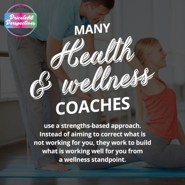 MANY Health wellness COACHES use a strengths-based approach. Instead of aiming to correct what is not working for you, they work to build what is working well for you from a wellness standpoint.⠀ ⠀ 💜😍Share With Friends 😍💜⠀ ⠀ #PricelessPerspectives #GoodKarmaInEffect #CatchTheVibe