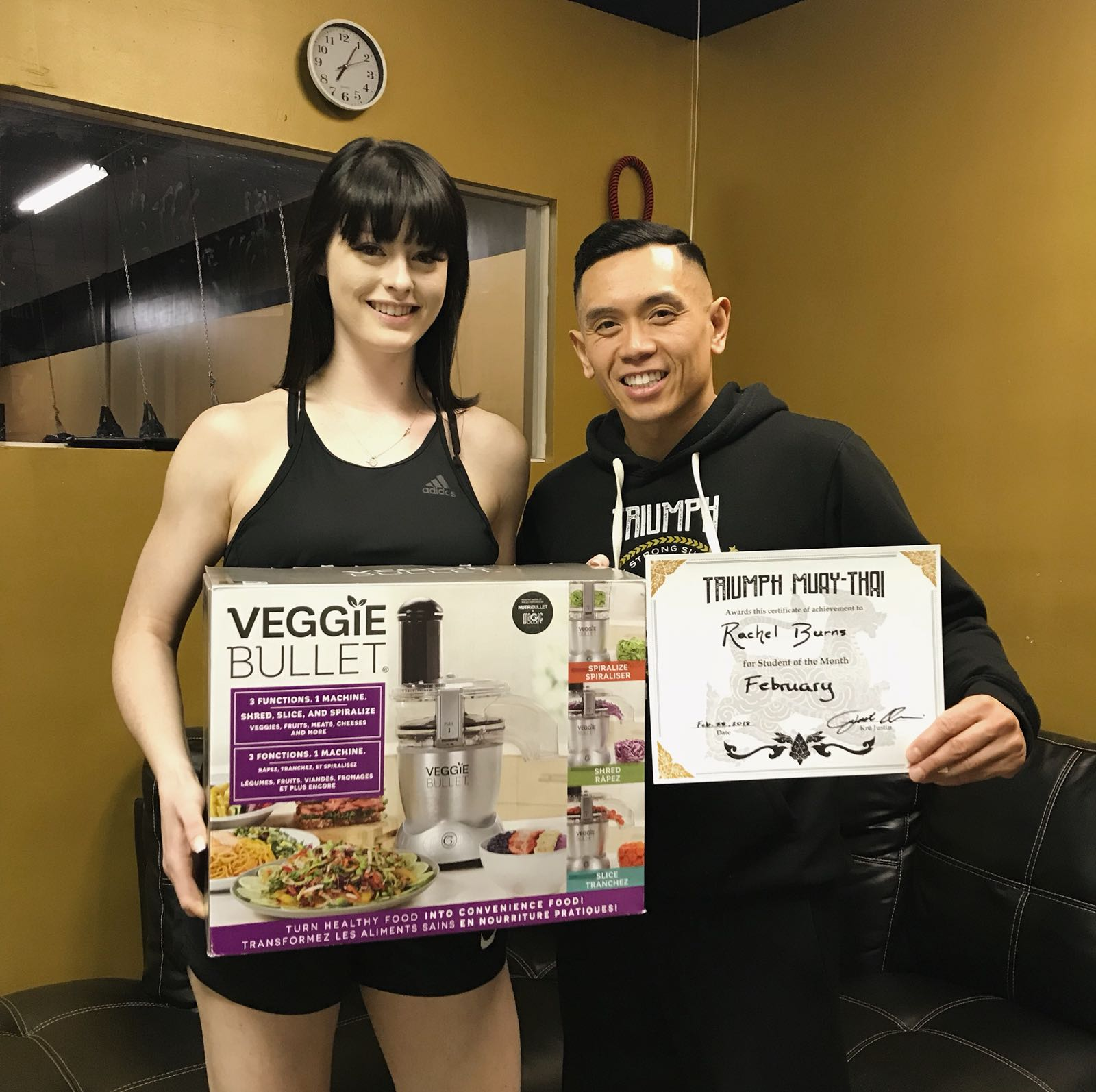 LE WIN! Congratulations to Rachel for winning February's student of the month AND the 6-Week Weight Loss Challenge. Keep up the good work and continue motivating the Triumph community!     #triumphmuaythai #muaythai #muaythaigirls #girlpower #fitness  #fitnessmotivation #fitnessgirl #motivation #scarborough #studentofthemonth #healthylifestyle #healthandfitness  #healthandwellness