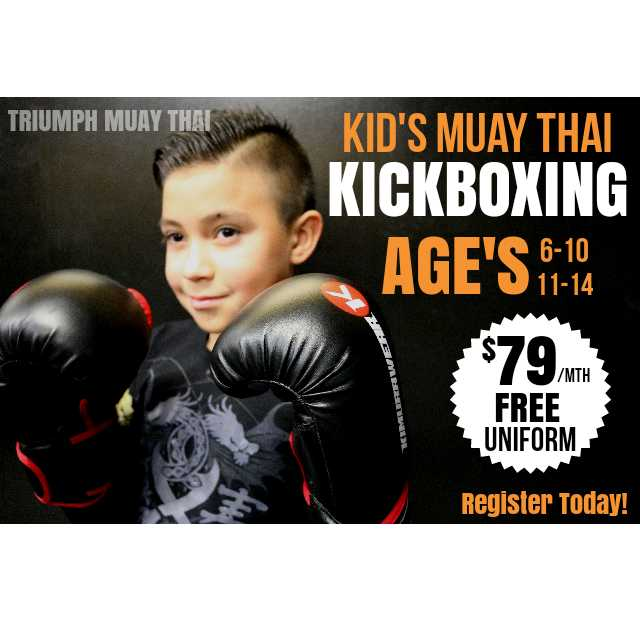 Our Jr. Muay Thai program is a great way to introduce your child to martial arts.   Join us every Monday, Wednesday at 5:30PM, and Saturday at 12:30PM.     Register your child today!