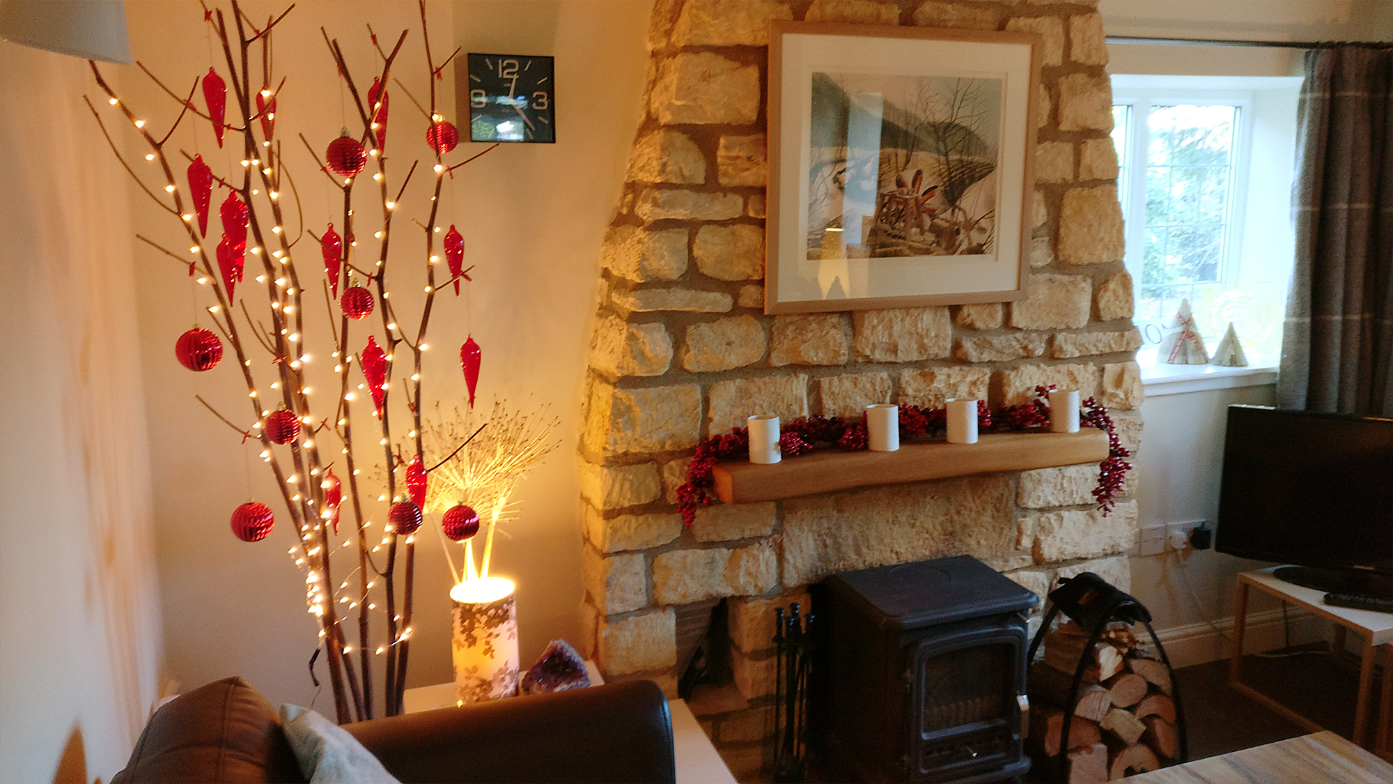 The cottage at Christmas