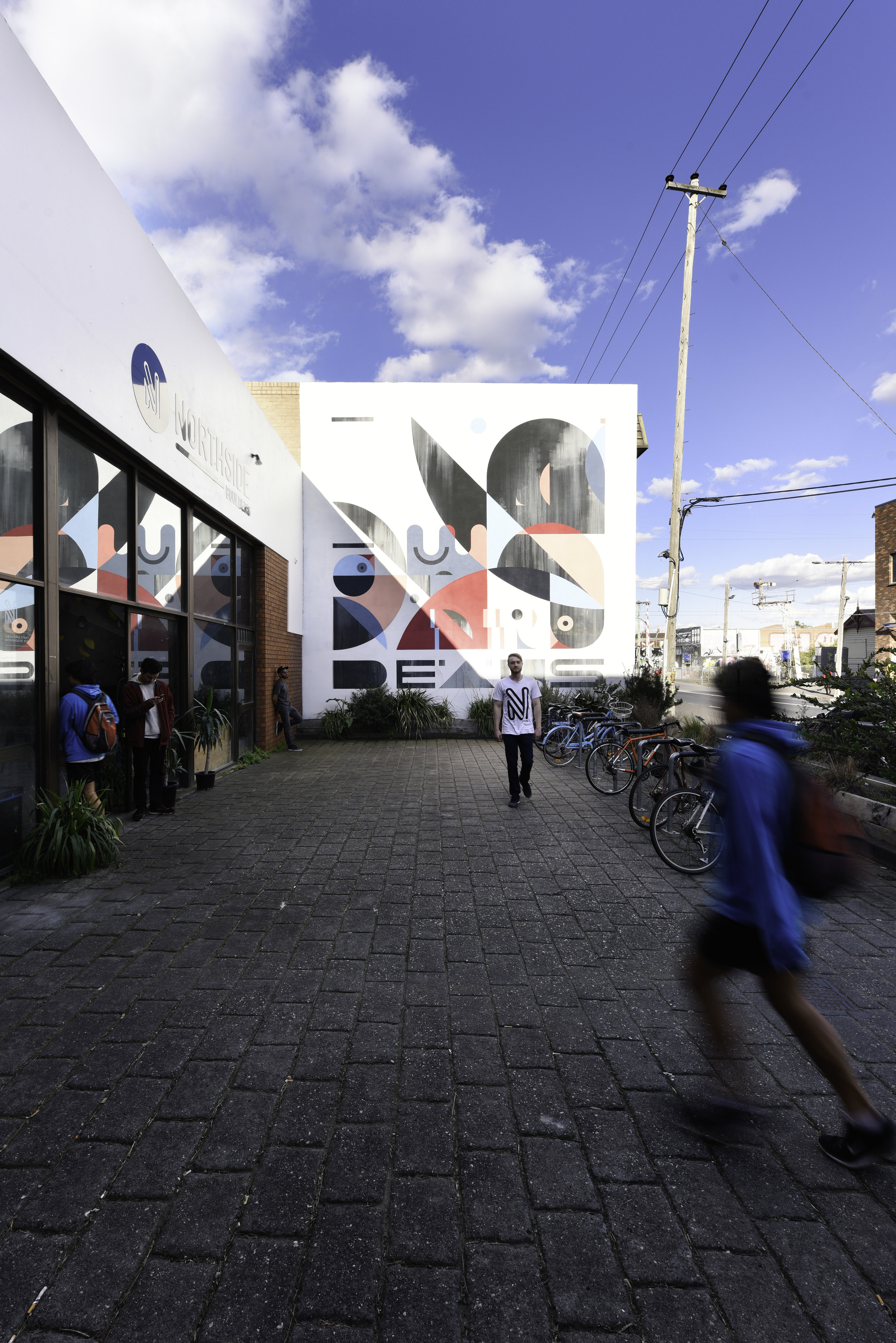 green sheep collective commercial architect melbourne community bouldering gymnasium bike parking