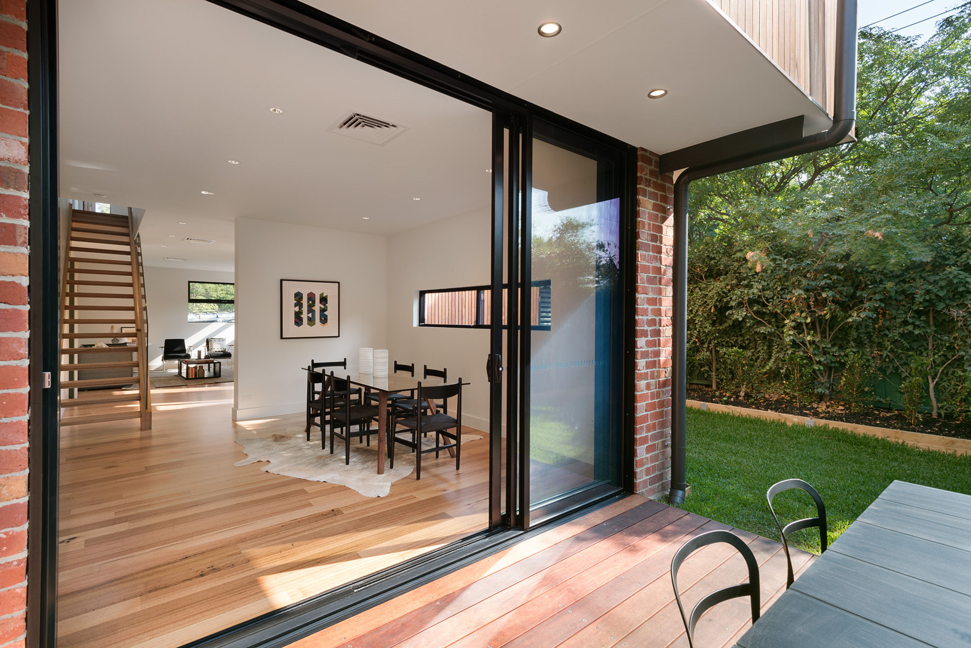 alphington townhouses deck indoor outdoor living award winning residential architects melbourne