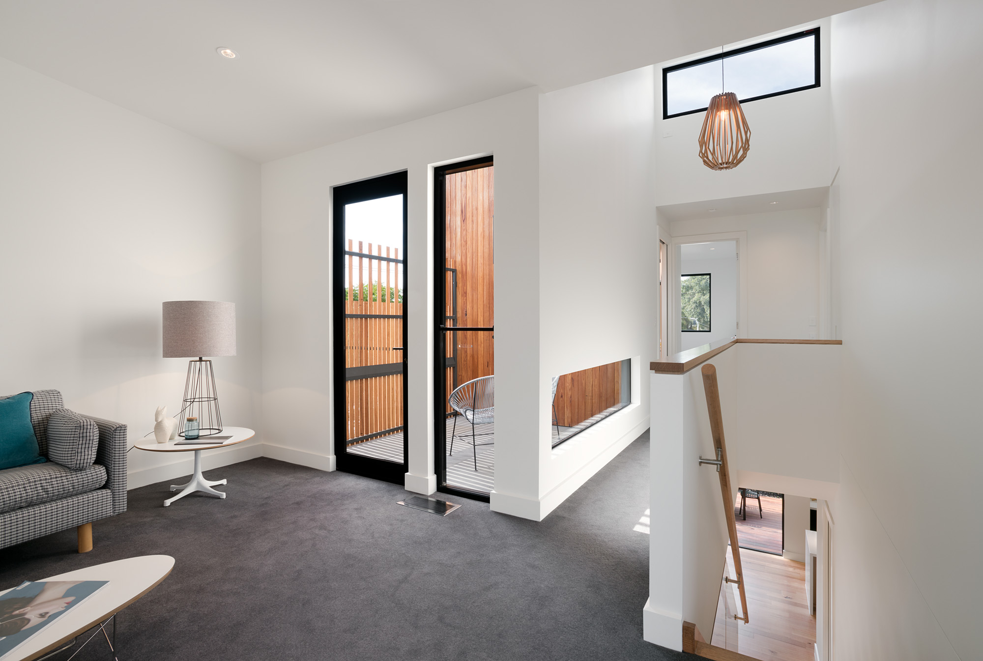 alphington townhouses passive solar design award winning residential architects melbourne