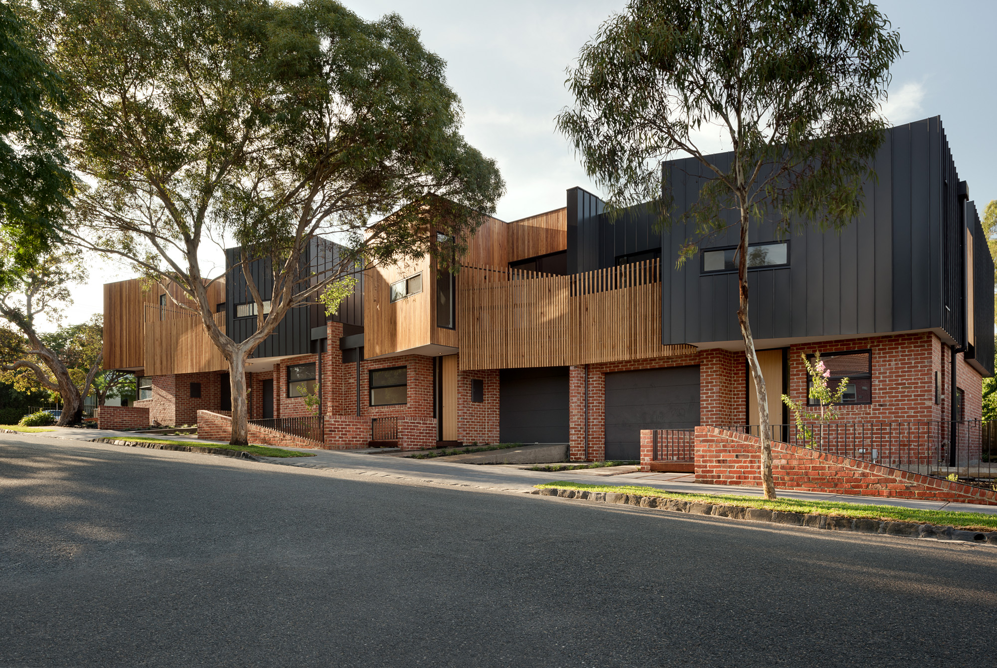 alphington townhouses articulated facade award winning residential architects melbourne