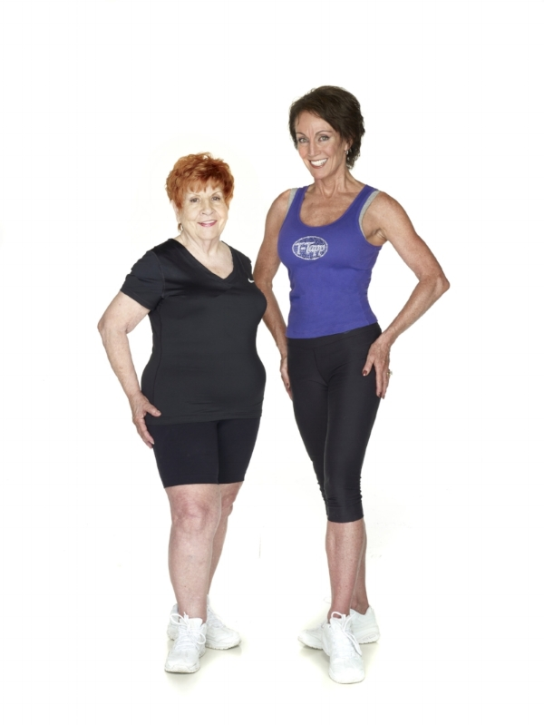 Berei, age 89, with Teresa Tapp, creator of the T-Tapp Workout (source: http://drcarolyndean.com)