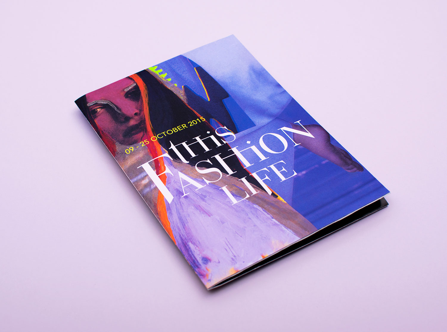 Fashion film festival brochure design and concept, featuring hand painted fashion model and Romeo & Juliet inspired typography.