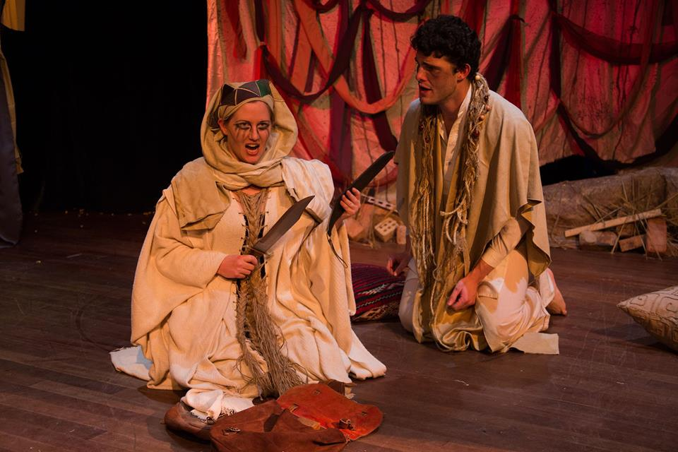 Asakir in Fairouz's  Sumeida's Song  / Third Eye Theater Ensemble (photo by Clint Funk)