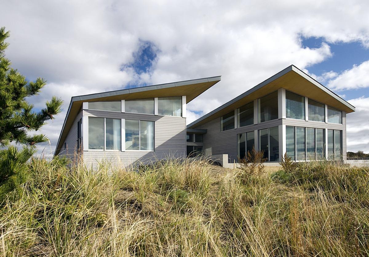 Truro beach home rear elevation