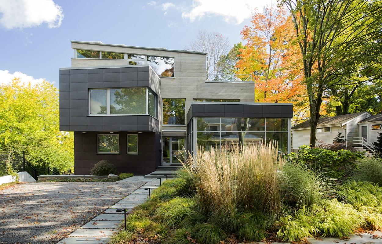 modern green architecture Brookline