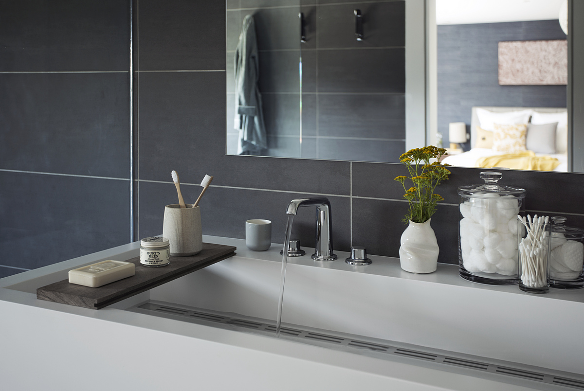 Modern bathroom detail