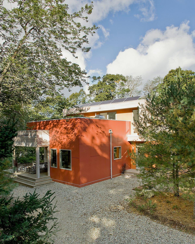 Green modern architecture