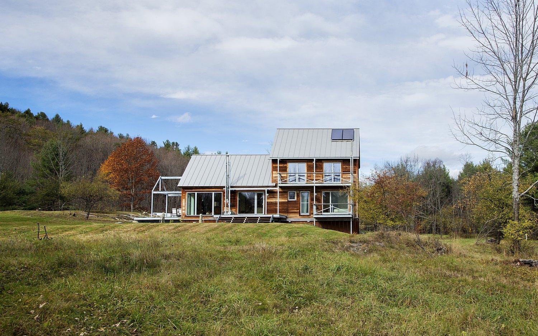 Vermont Passive House Rear Elevation