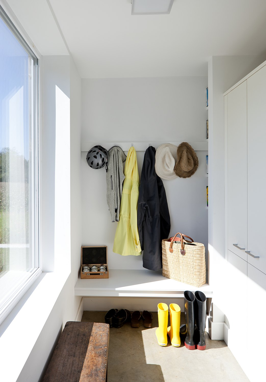 mudroom with extra storage