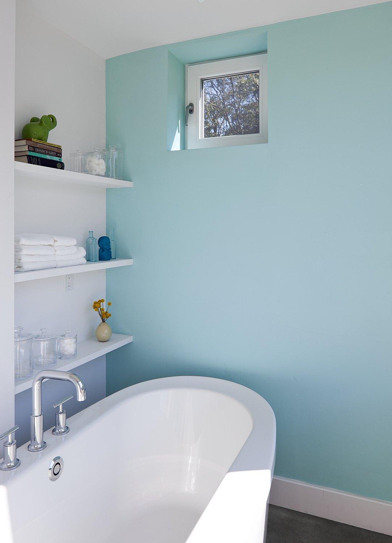 modern bathroom blue
