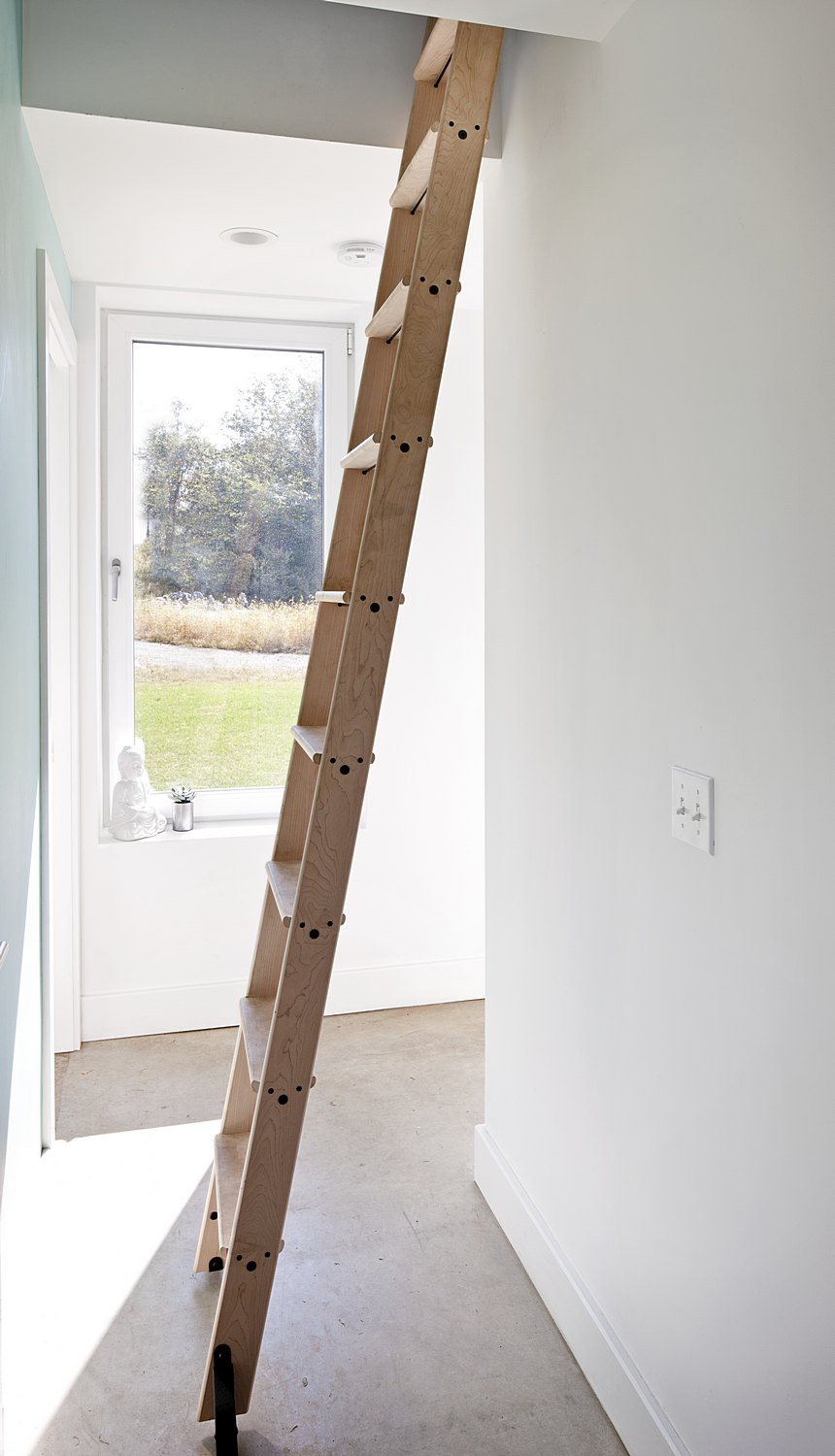 Ladder to loft area