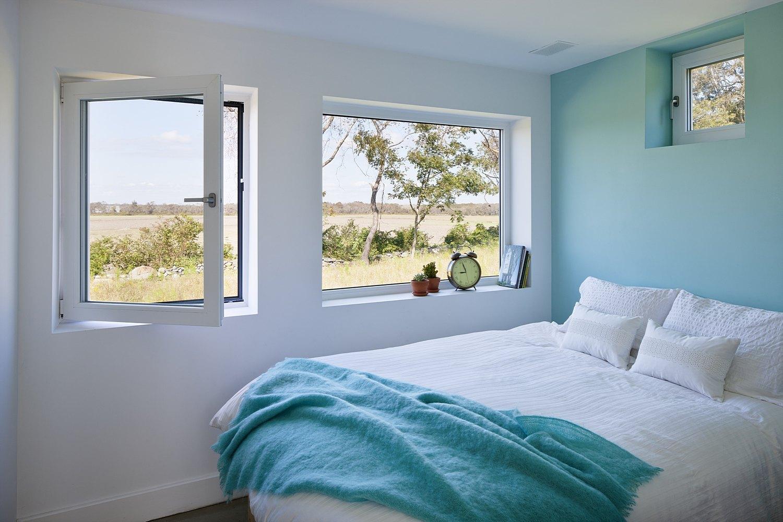 contemporary bedroom blue