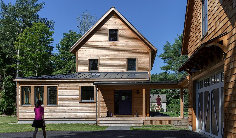 Modern farmhouse entrance