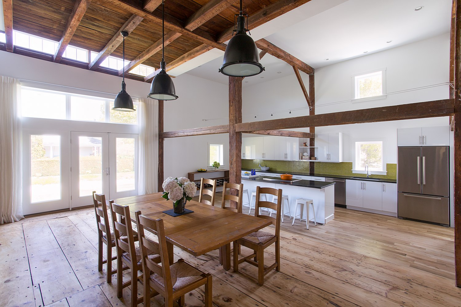 Renovated barn with open concept design