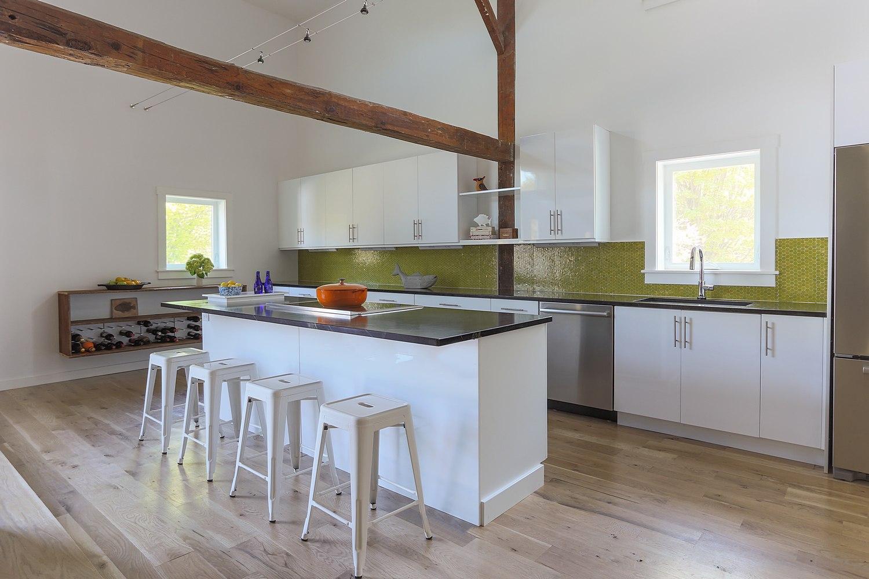 Modern barn kitchen with extra storage