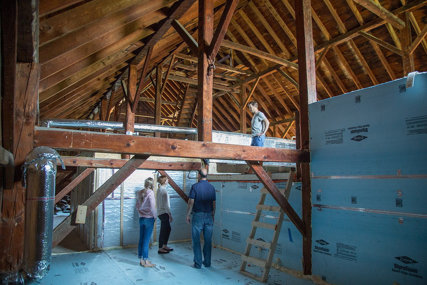 Conditioned space barn renovation