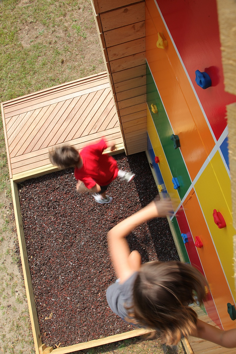 Recycled Tire Landing for Playhouse
