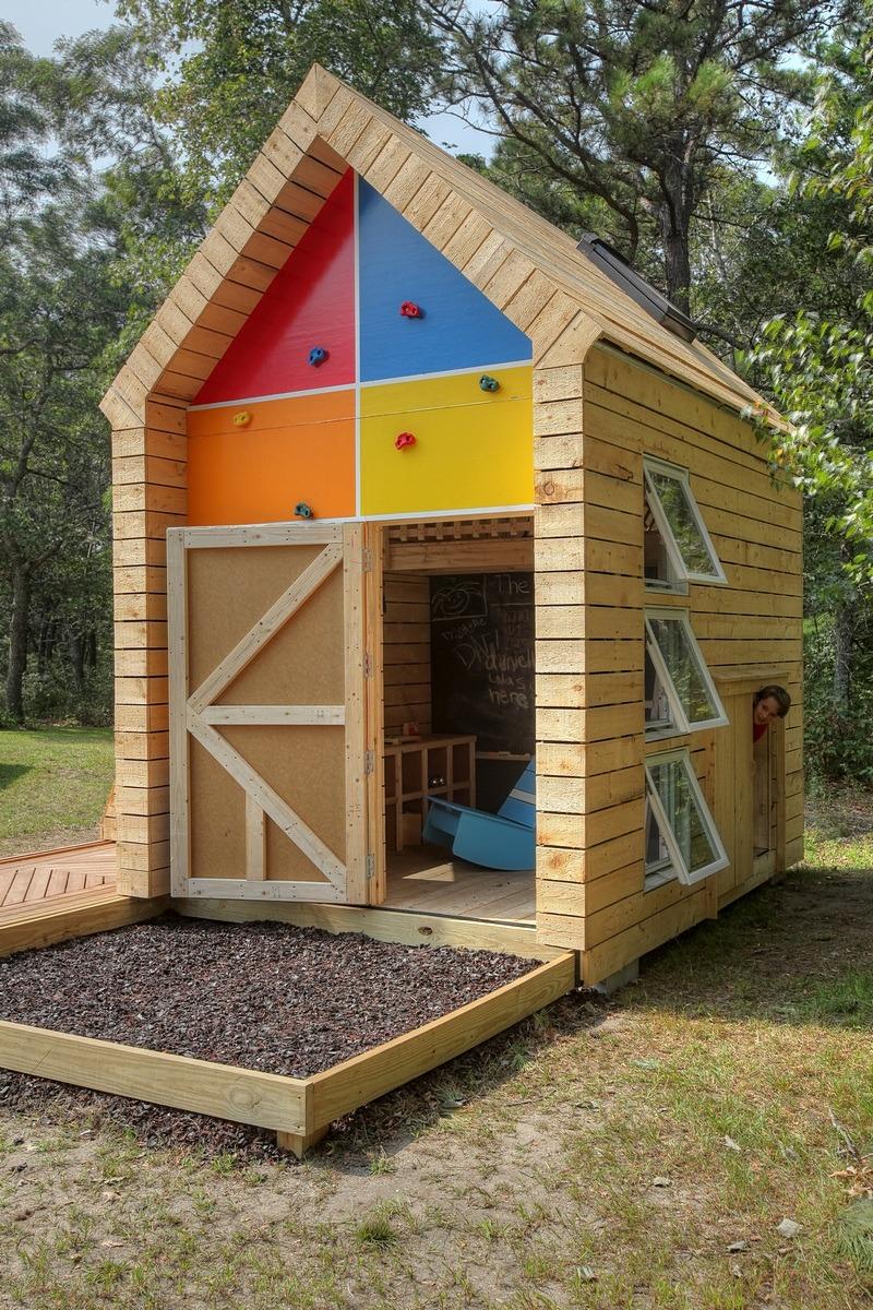 Playhouse with Hidden Door