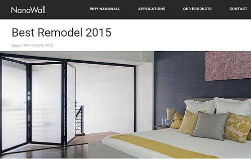 NanaWall  Best Remodel Award