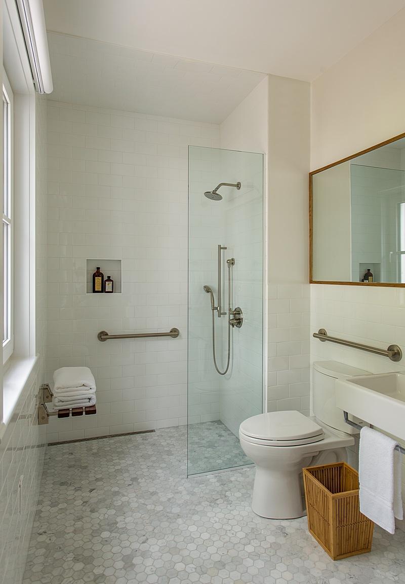 Accessible first floor bathroom