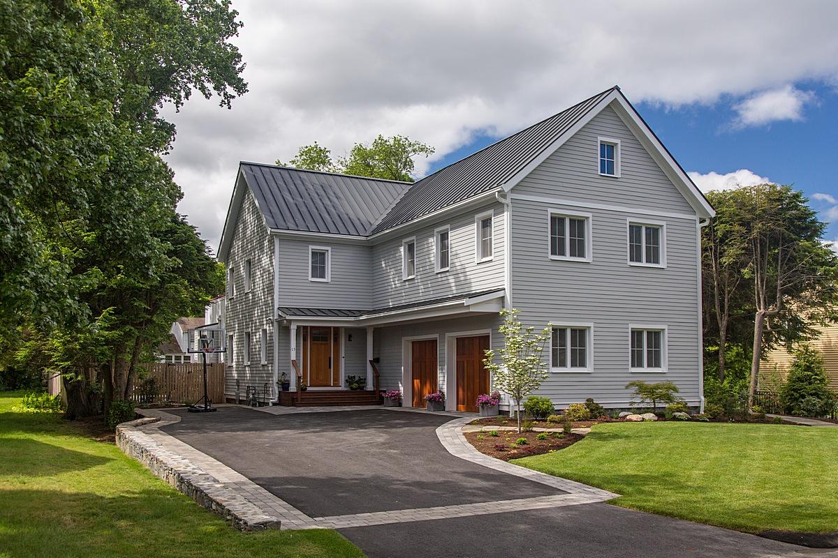 Modern green home Massachusetts