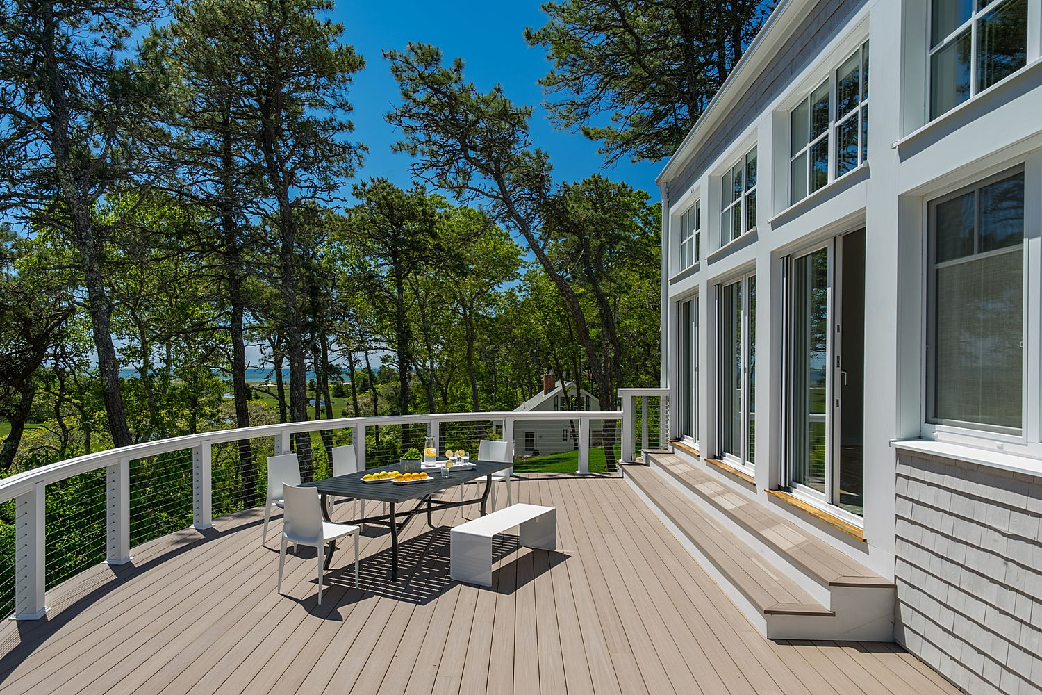 huge expansive deck with dining area