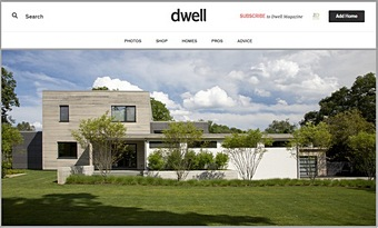 Dwell    Modern Green Home in a Colonial Town