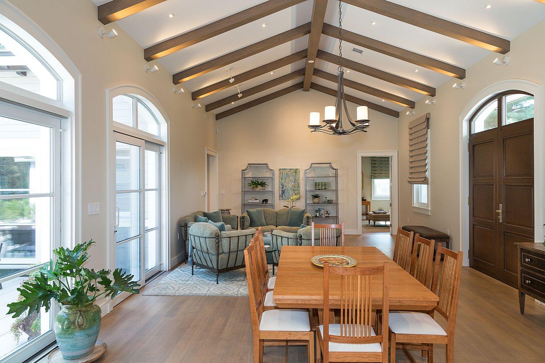 Open concept living spaces