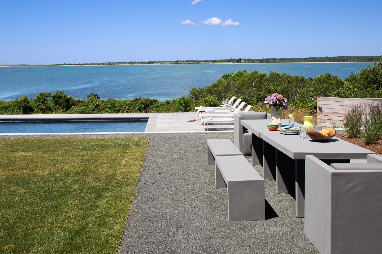 Modern beach house with pool