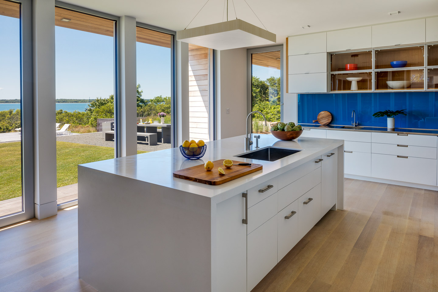 Modern kitchen with a view