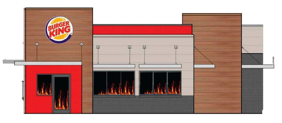 All windows will have screens and act as our timer. A small flame will start at the entrance and continue to spread around the room. As the flames spread, the heat in the restaurant will rise; adding to the panic.