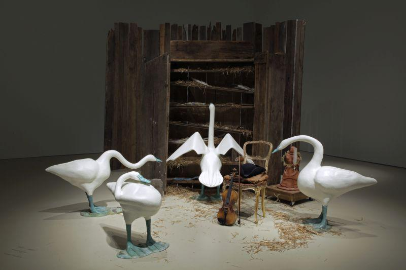 Commission for Joyce Weiland - Design and creation of swans for  Swan's Cupboard -  Collection of the Art Gallery of Hamilton