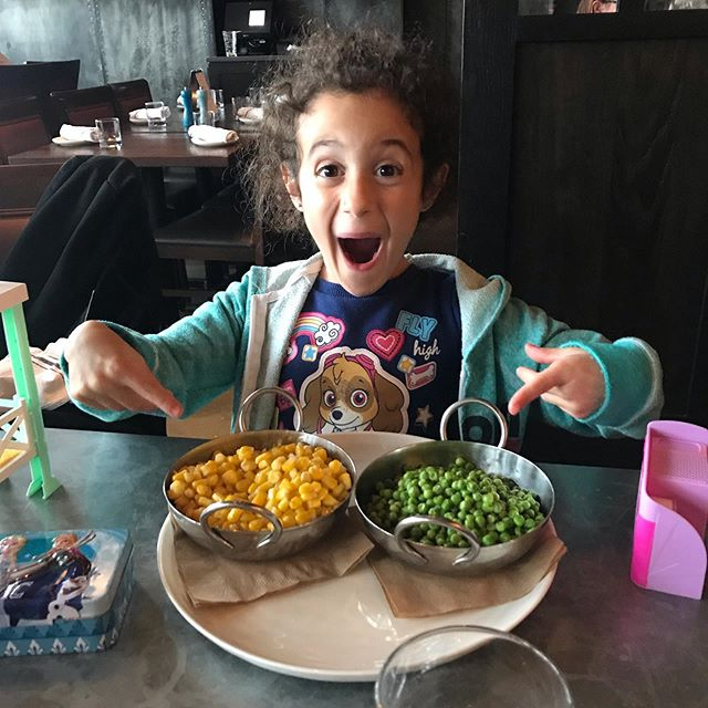 Gotta love my natural vegetarian. This girl loves her some peas and corn. #vegetarian #mypeanut #fighter #preemie #necsurvivor