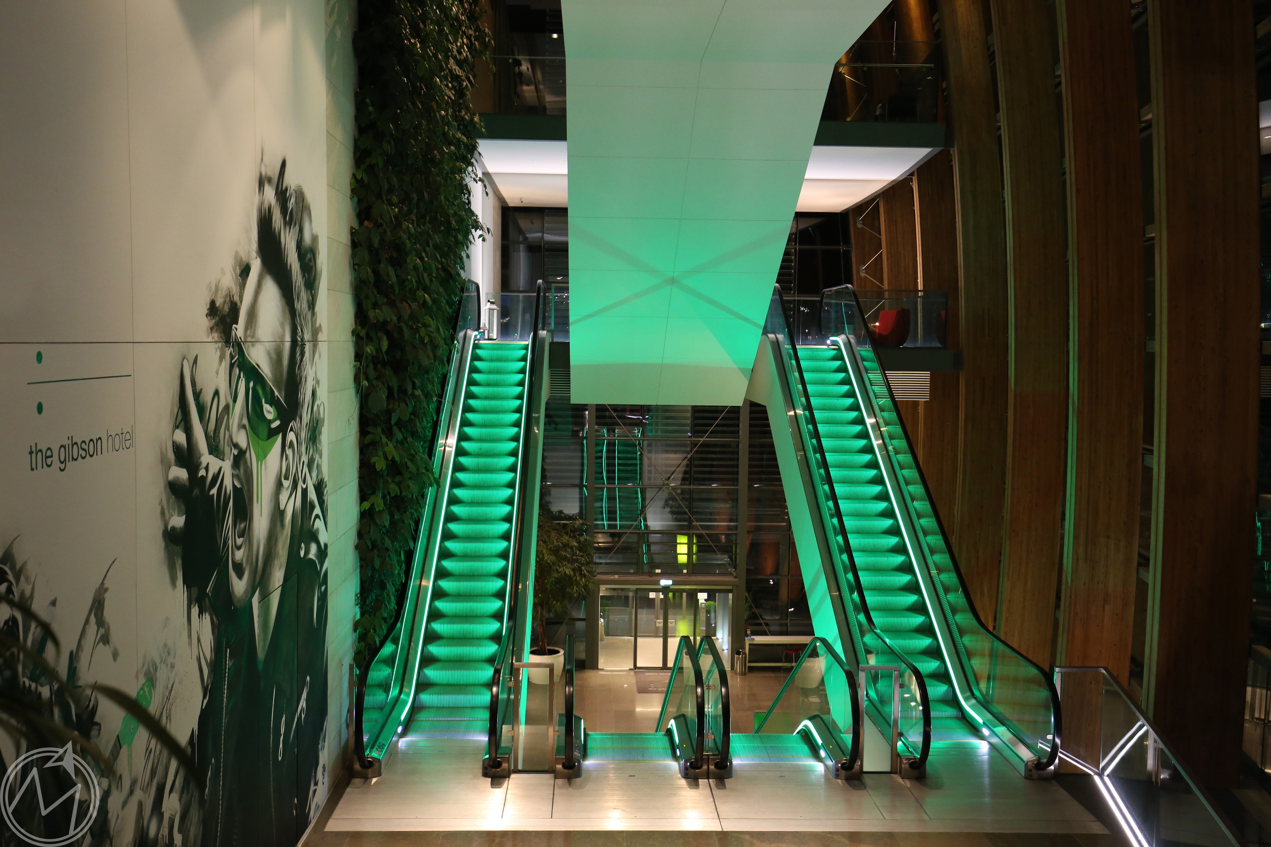 we were mesmerized by these escalators from oz!