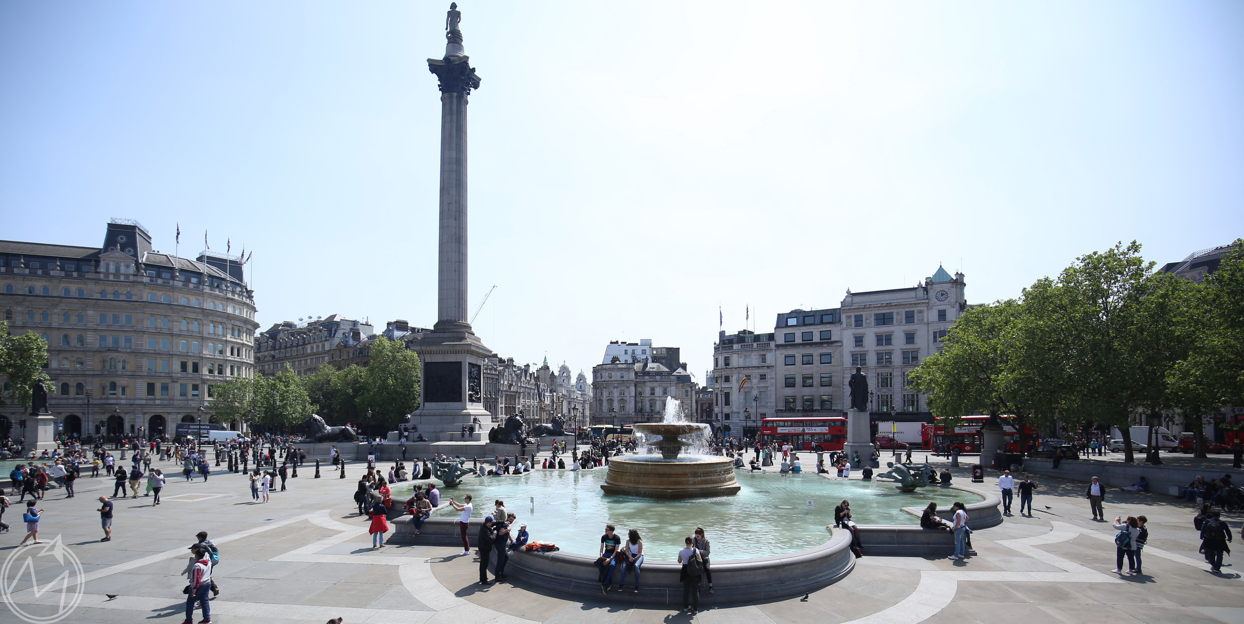 trafalgar square! some of the best people watching anywhere.