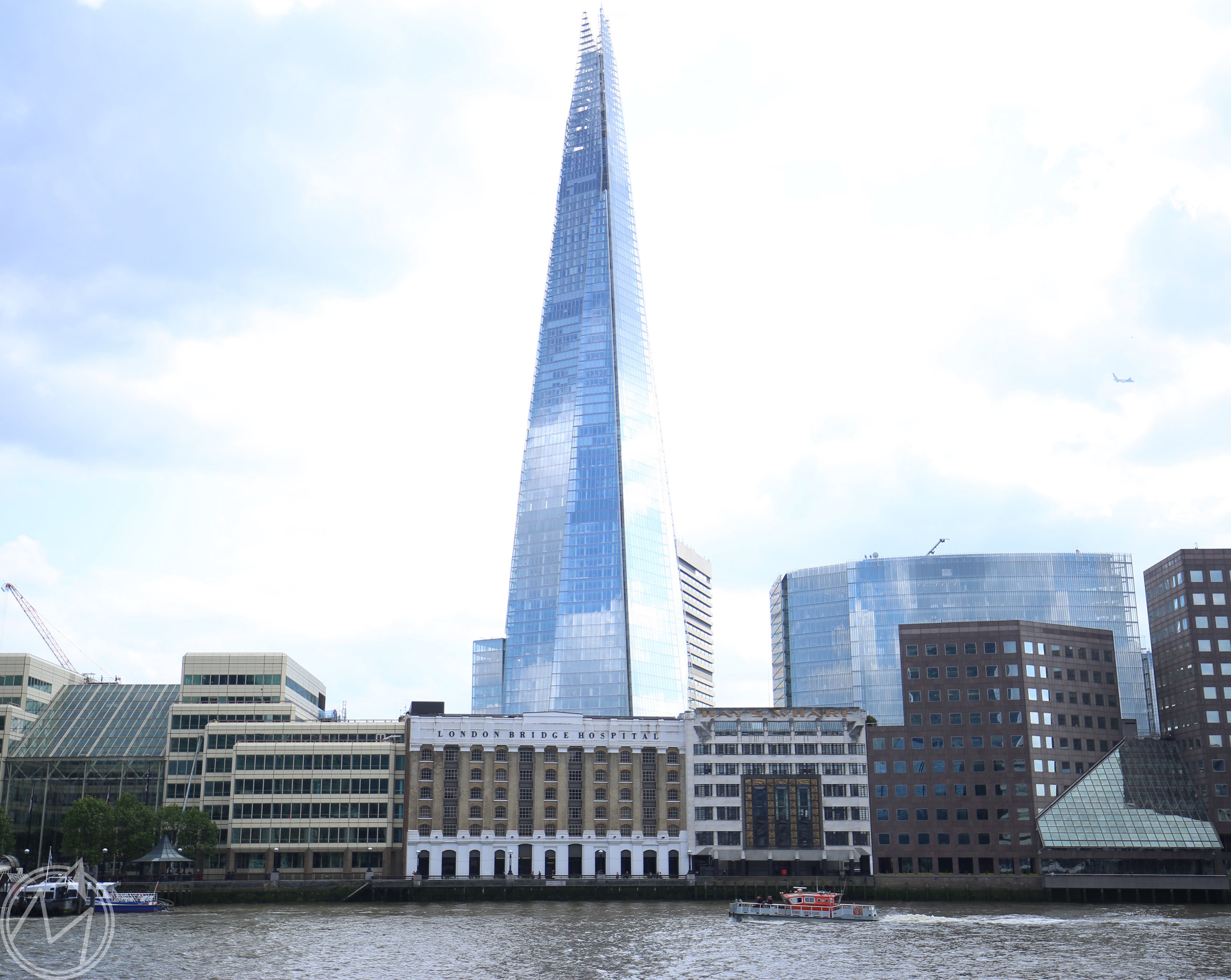 this building is aptly named the shard and looks so juxtaposed to the centuries-old buildings in the rest of the city.
