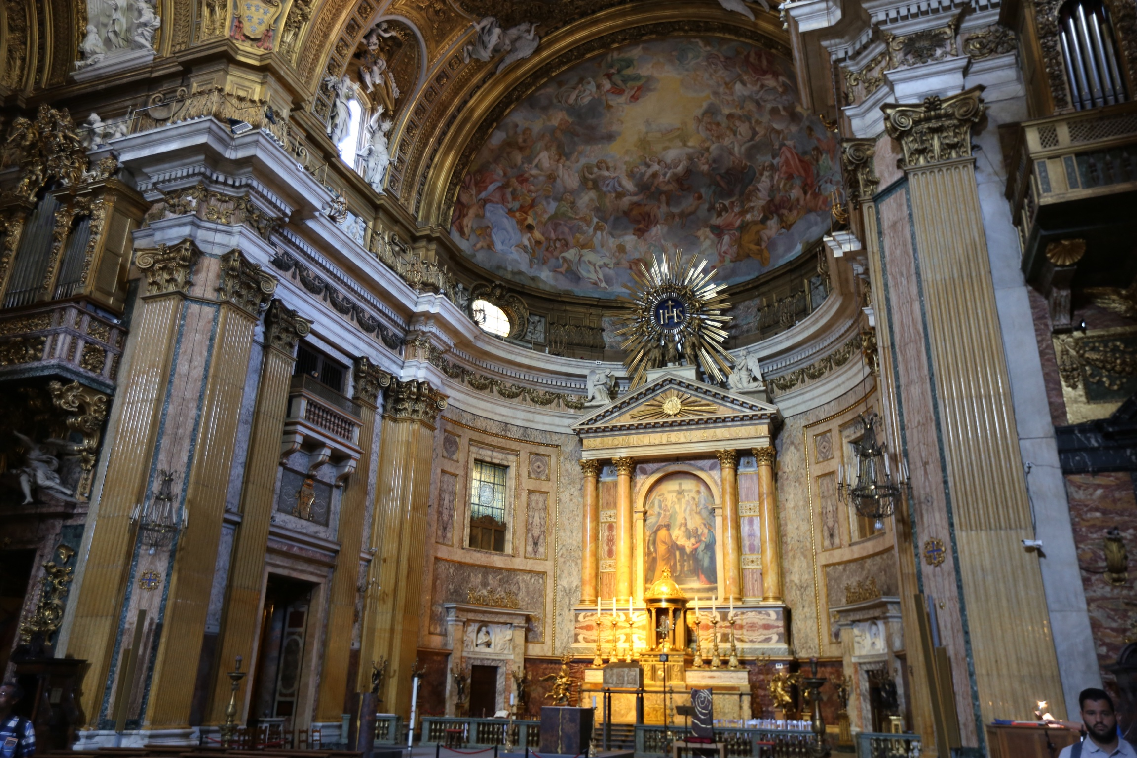 it's hard to show or explain how enormous and ornate the basilica truly is.