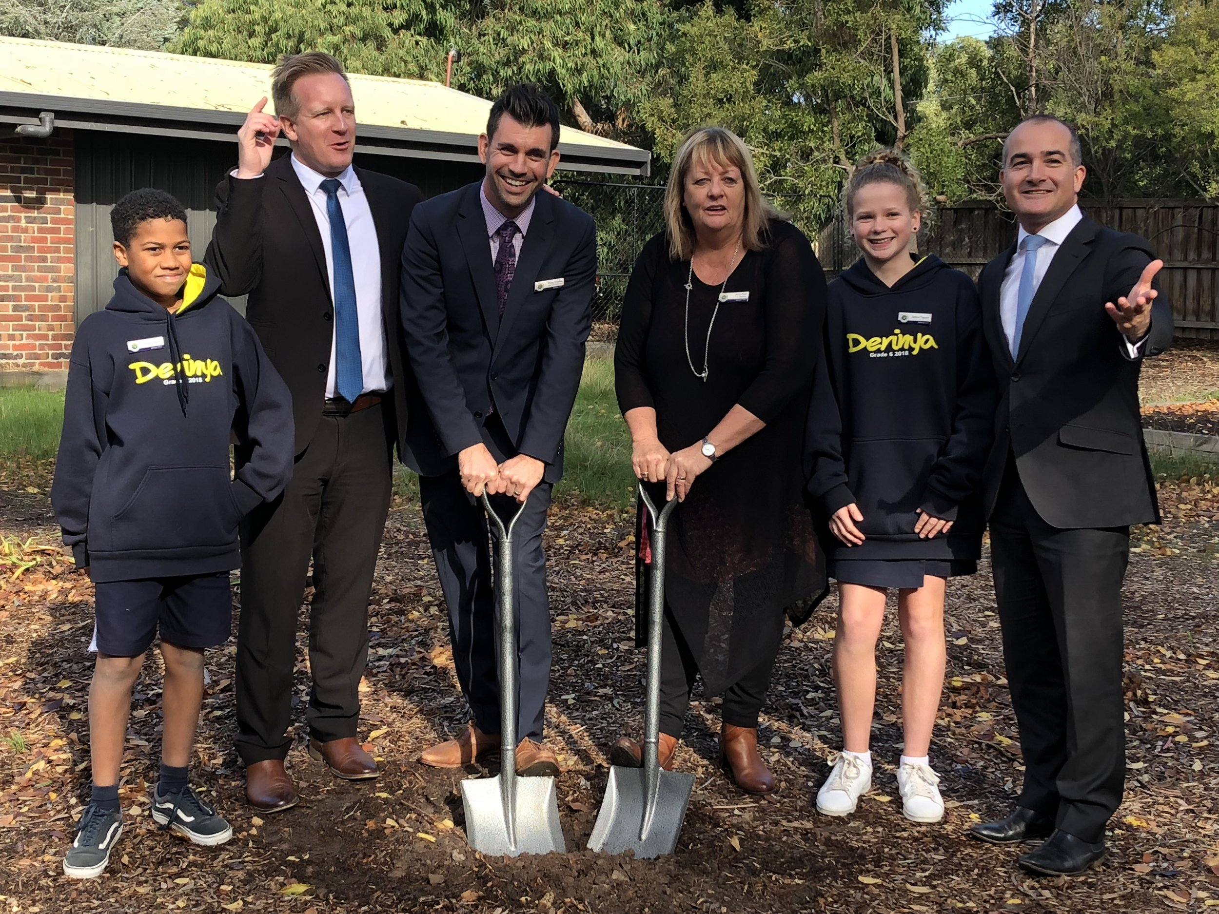 Turning the first sod back in August 2018 to start construction of the Kitchen Garden. In attendance were local MP Paul Edbrooke and Deputy Premier James Merlino.