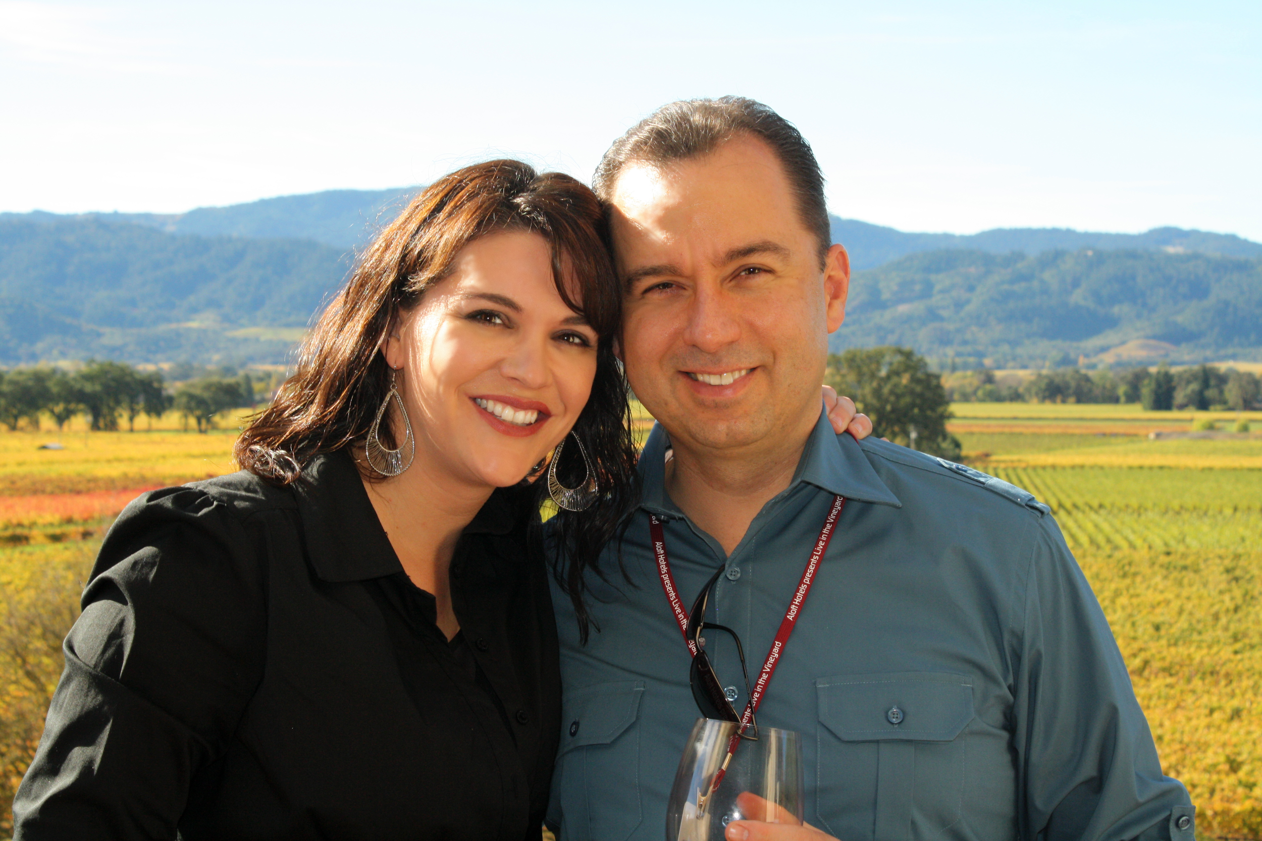 Heather & Brian in, where else, Napa Valley.