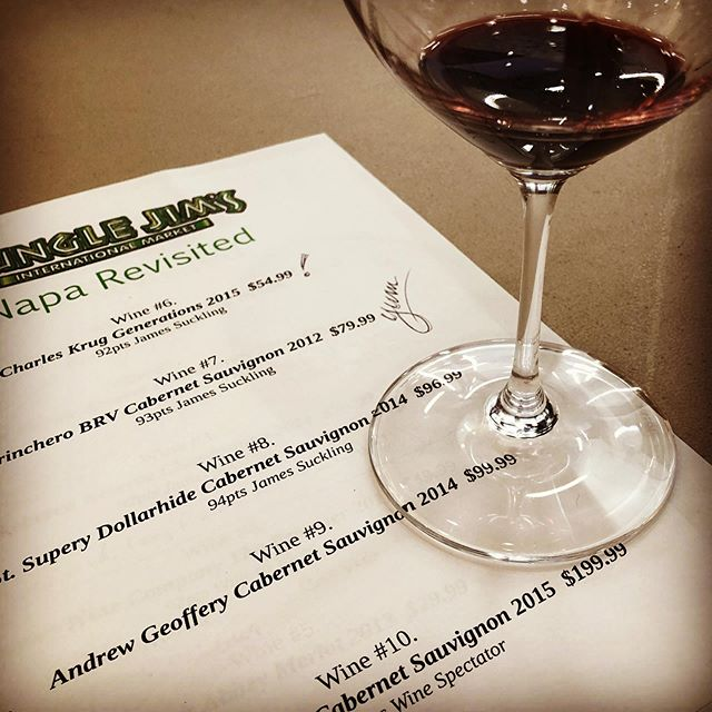 "A ""Napa Revisted"" wine tasting at a place called Jungle Jim's. Probably lame right? Wrong. Very wrong. . . . . #winetasting #napa #napavalley #junglejims #wine #vino"