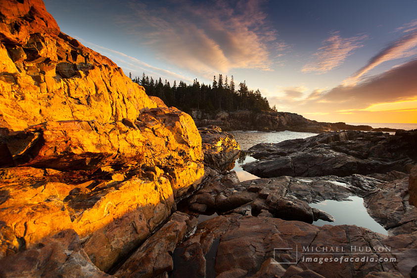 Dawn at Hunters Head, Acadia National Park, Maine