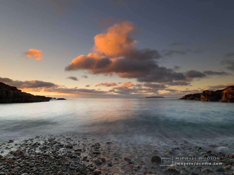 Dawn at Hunters Beach, Acadia National Park, Maine, USA
