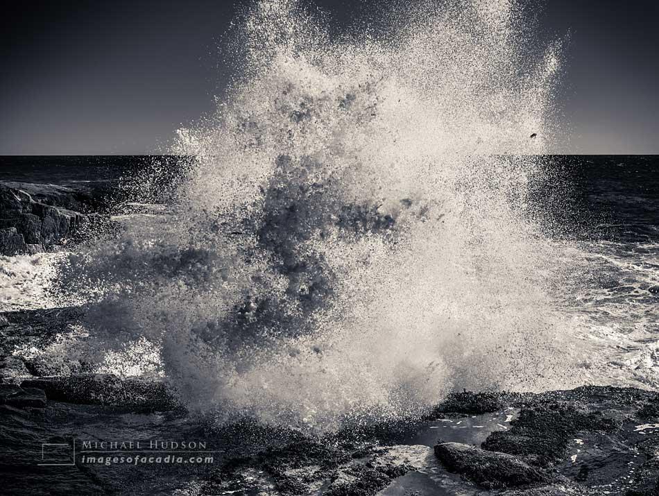 Waves, Schoodic Point, Acadia National Park, Maine, USA