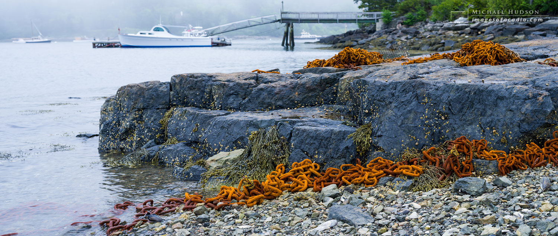 Rusty chains, Northeast Harbor, Mount Desert Island, Maine