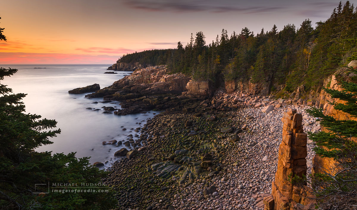 Sunrise at Monument Cove, Acadia National Park, Maine, USA